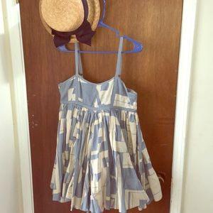 Anthro babydoll dress